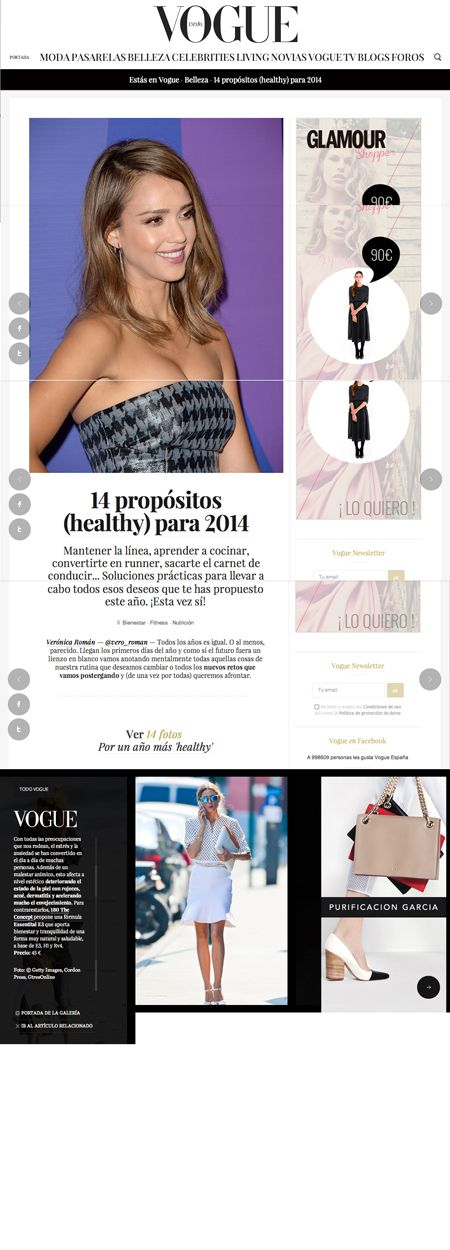 Vogue - 14 propósitos healthy para 2014