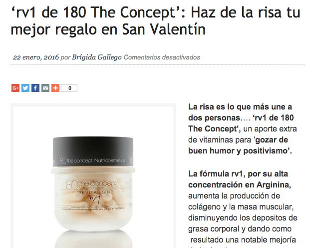 rv1 de 180 the concept nutricosmética por San Valentín
