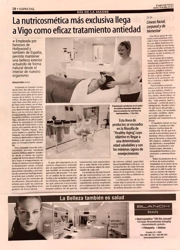 Nutricosmetica en Faro de Vigo